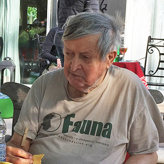 Norman Taylor enjoying an afternoon at Fauna in June, 2016.